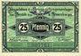 Banknoten Brandenburg. Inspektion der KGL im Bereich des XIII. Armeekorps. Billet. 25 pf 1.10.1917