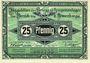 Banknoten Frankfurt Oder. Inspektion der KGL im Bereich des XIII. Armeekorps. Billet. 25 pf 1.10.1917