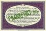 Banknoten Frankfurt Oder. Inspektion der KGL im Bereich des XIII. Armeekorps. Billet. 50 pf 1.10.1917