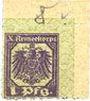 Banknoten Hannovre. X. Armeekorps. Scheckmarken. Billet. 1 pf (1917)