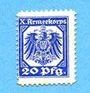 Banknoten Hannovre. X. Armeekorps. Scheckmarken. Billet. 20 pf (1915)