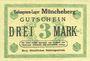 Banknoten Müncheberg. Gefangenenlager. Billet. 3 mark n. d.