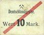 Banknoten Schwientochlowitz (Swietochlowice, Pologne). Deutschlandgrube. Billet. 10 mark n. d.