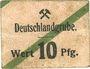Banknoten Schwientochlowitz (Swietochlowice, Pologne). Deutschlandgrube. Billet. 10 pf n.d.