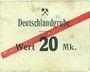 Banknoten Schwientochlowitz (Swietochlowice, Pologne). Deutschlandgrube. Billet. 20 mark n. d.
