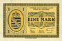 Banknoten Wiesa bei Annaberg. Offizier- Gefangenenlager. Billet. 1 mark 1.1.1916