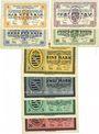 Banknoten Wiesa bei Annaberg. Offizier- Gefangenenlager. Billets. 5, 10, 50 pf,  1, 2, 5, 20 mark 1.1.1916