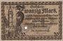 Banknoten Altenburg. Stadt. Billet. 20 mark 15.11.1918, cachet, perforation