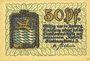 Banknoten Amberg. Stadt. Billet. 50 pfennig 1919