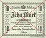 Banknoten Anhalt. Herzogliche F. D. Billet. 10 mark 29.10.1918, Annulation par traits en diagonal