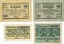Banknoten Anhalt. Herzogliche F. D. Billets. 25, 50 pf 6.3.1917 25, 50 pf 1.4.1920