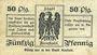 Banknoten Arnstadt. Stadt. Billet. 50 pf 1.3.1917 - 31.12.1919