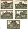 Banknoten Aschersleben. Stadt. Billets. 25 pf (2ex), 50 pf (2ex), 75 pf 1.12.1921