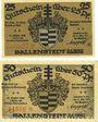 Banknoten Ballenstedt am Harz. Stadt. Billets. 25 pf, 50 pf 28.9.1920