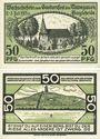 Banknoten Bargteheide. Gauturnsfest des Travegaues. Billets. 50 pf (2ex) 2.7.1921