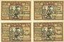 Banknoten Belgard am Persante (Bialogard, Pologne). Stadt. Billets. 25 pf, 75 pf, 1 mark, 2 mark