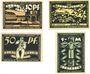 Banknoten Bentheim. Stadt. Billets. 10 pf,  25 pf, 50 pf, 1 mark (oct 1921)
