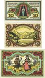 Banknoten Berchtesgaden. Marktgemeinde. Billets. 10 pf, 20 pf, 1 mark 13.8.1920