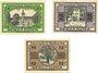 Banknoten Berga am Elster. Stadt. Billets. 10 pf, 25 pf, 50 pf 22.6.1920