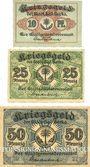 Banknoten Berka. Bad. Stadt. Billets. 10 pf, 25 pf, 50 pf 1917