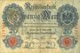 Banknoten Allemagne. Billet. 20 mark 10.3.1906 X, série C