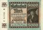 Banknoten Allemagne. Billet. 5 000 mark 2.12.1922. Série B