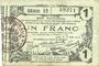 Banknoten Aisne, Ardennes et Marne - Bon régional. Laon. Billet. 1 franc 16.6.1916, série 13
