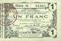 Banknoten Aisne, Ardennes et Marne - Bon régional. Laon. Billet. 1 franc 16.6.1916, série 16
