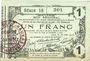 Banknoten Aisne, Ardennes et Marne - Bon régional. Laon. Billet. 1 franc 16.6.1916, série 18