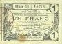 Banknoten Aisne, Ardennes et Marne - Bon régional. Laon. Billet. 1 franc 16.6.1916, série 19