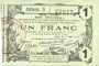 Banknoten Aisne, Ardennes et Marne - Bon régional. Laon. Billet. 1 franc 16.6.1916, série 5
