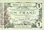 Banknoten Aisne, Ardennes et Marne - Bon régional. Laon. Billet. 1 franc 16.6.1916, série 6