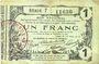 Banknoten Aisne, Ardennes et Marne - Bon régional. Laon. Billet. 1 franc 16.6.1916, série 7