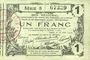 Banknoten Aisne, Ardennes et Marne - Bon régional. Laon. Billet. 1 franc 16.6.1916, série 8