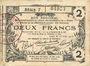 Banknoten Aisne, Ardennes et Marne - Bon régional. Laon. Billet. 2 francs 16.6.1916, série 7