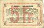 Banknoten Aisne, Ardennes et Marne - Bon régional. Laon. Billet. 5 francs 16.6.1916, série 2