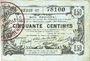 Banknoten Aisne, Ardennes et Marne - Bon régional. Laon. Billet. 50 cmes 16.6.1916, série 17