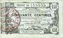 Banknoten Aisne, Ardennes et Marne - Bon régional. Laon. Billet. 50 cmes 16.6.1916, série 18