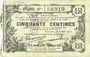 Banknoten Aisne, Ardennes et Marne - Bon régional. Laon. Billet. 50 cmes 16.6.1916, série 19