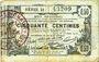 Banknoten Aisne, Ardennes et Marne - Bon régional. Laon. Billet. 50 cmes 16.6.1916, série 21