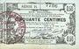 Banknoten Aisne, Ardennes et Marne - Bon régional. Laon. Billet. 50 cmes 16.6.1916, série 24