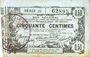 Banknoten Aisne, Ardennes et Marne - Bon régional. Laon. Billet. 50 cmes 16.6.1916, série 25