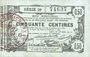 Banknoten Aisne, Ardennes et Marne - Bon régional. Laon. Billet. 50 cmes 16.6.1916, série 29
