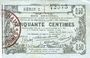 Banknoten Aisne, Ardennes et Marne - Bon régional. Laon. Billet. 50 cmes 16.6.1916, série 2