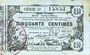 Banknoten Aisne, Ardennes et Marne - Bon régional. Laon. Billet. 50 cmes 16.6.1916, série 37