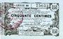 Banknoten Aisne, Ardennes et Marne - Bon régional. Laon. Billet. 50 cmes 16.6.1916, série 38