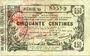 Banknoten Aisne, Ardennes et Marne - Bon régional. Laon. Billet. 50 cmes 16.6.1916, série 45
