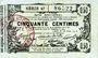 Banknoten Aisne, Ardennes et Marne - Bon régional. Laon. Billet. 50 cmes 16.6.1916, série 47