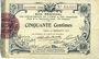 Banknoten Aisne et  Ardennes - Bon régional, Laon, billet, 50 cmes 19.9.1915, 4e série