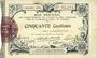 Banknoten Aisne et  Ardennes - Bon régional, Laon, billet, 50 cmes 19.9.1915, 5e série